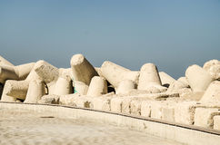 Breakwaters in the Adriatic sea Stock Photos