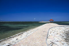 Sanur beach breakwaters bali indonesia Royalty Free Stock Photography