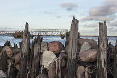 Breakwaters on the Baltic Sea Stock Image