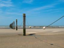 Breakwaters and buoys royalty free stock photos