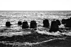 Breakwaters Royalty Free Stock Photo