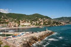 Bay in Recco, Italy Royalty Free Stock Photo