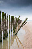 Breakwaters Northsea France Royalty Free Stock Photos