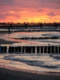 Breakwaters in Poland Stock Photography