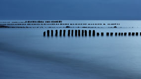 Breakwaters on the sea Royalty Free Stock Images