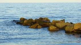 Breakwaters in the sea Royalty Free Stock Image