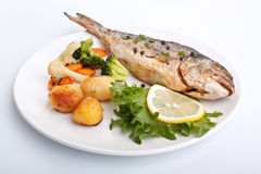 bream λαχανικά θάλασσας ψαριώ& Στοκ Φωτογραφία