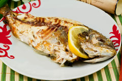 Bream baked Stock Images