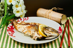 Bream baked Royalty Free Stock Photos