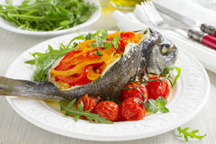 Bream baked fish stuffed Stock Images