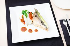 Bream fish with vegetables Stock Photography