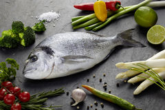 Bream with Vegetables Stock Photo