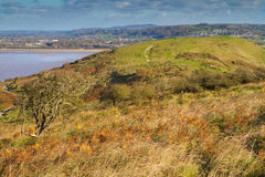 Brean Down Somerset in autumn Royalty Free Stock Image