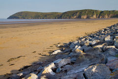 Brean plaża i Brean Puszek Somerset Obrazy Royalty Free
