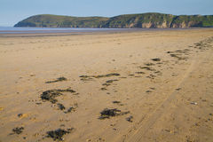 Brean plaża i Brean Puszek Somerset Zdjęcia Royalty Free