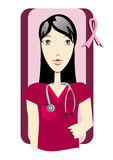 Breast Cancer Awareness. Medical assistant. Preventive care Royalty Free Stock Images