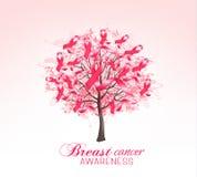 Breast cancer awareness background. stock illustration