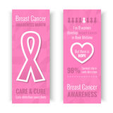 Breast Cancer Awareness Banners Royalty Free Stock Image