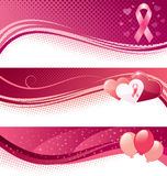Breast cancer awareness banners Royalty Free Stock Photos