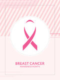 Breast cancer awareness card. Pink ribbon campaign. Breast cancer awareness month card. Pink ribbon campaign Stock Photo