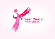 Breast cancer awareness concept  design Stock Photography