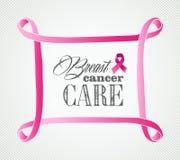 Breast cancer awareness concept frame illustration royalty free stock image