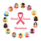 Breast cancer awareness. Concept . Vector illustration stock illustration