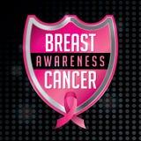 Breast Cancer Awareness Emblem Illustration Stock Photo