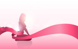 Breast Cancer Awareness Female Silhouette Royalty Free Stock Photography