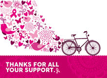 Breast cancer awareness health bike pink elements Stock Photo