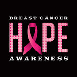 Breast Cancer Awareness Hope Message Illustration Royalty Free Stock Photos