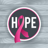 Breast Cancer Awareness Hope Theme Illustration Royalty Free Stock Image