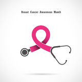 Breast cancer awareness logo design.Breast cancer awareness Stock Photography