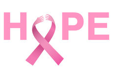 Breast cancer awareness message Stock Photo