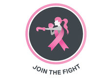 Breast cancer awareness message. On white background Royalty Free Stock Photos