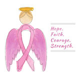 Breast Cancer Awareness Month Background Stock Photo