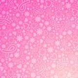 Breast Cancer awareness month background. Breast Cancer awareness month vector illustration with many objects on gradient background Stock Photo