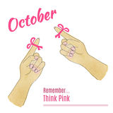 Breast Cancer Awareness Month Background Royalty Free Stock Image