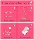 Breast Cancer Awareness Month icons. Stock Images