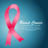 Breast Cancer Awareness Month Pink Ribbon Background Vector vector illustration