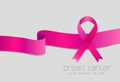 Breast cancer awareness month. Pink ribbon design Stock Photo
