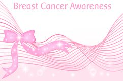 Breast cancer awareness month pink ribbon vector background Stock Images