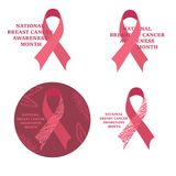 Breast cancer awareness month. Cancer ribbon Stock Photo
