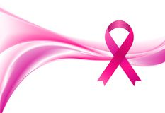 Breast cancer awareness month. Smooth wave and stock photos