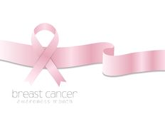 Breast cancer awareness month vector background Royalty Free Stock Images