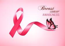 Breast cancer awareness pink background. royalty free illustration