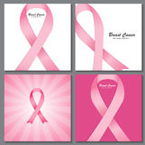 Breast Cancer Awareness Pink Ribbon Background Stock Image