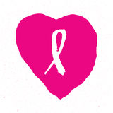 Breast cancer awareness pink ribbon background,  illustration. Breast cancer awareness pink ribbon background Stock Image