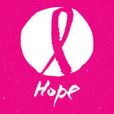 Breast cancer awareness pink ribbon background,  illustration. Breast cancer awareness pink ribbon background Stock Photography