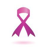 Breast cancer awareness pink ribbon. Colorful illustration with  Breast cancer awareness pink ribbon  for your design Royalty Free Stock Image